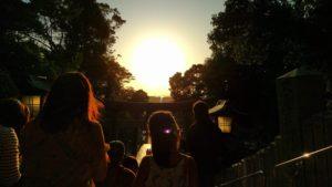 福岡の夕日の写真